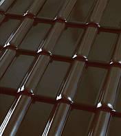 Черепица керамическая ROBEN Piemont (Робен Пьемонт) Черно-коричневая глазурованная, фото 1