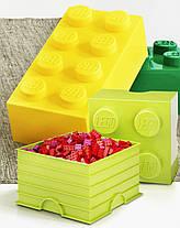 Восьми точечный светло желтый контейнер для хранения Lego 40041741, фото 3