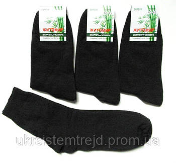Мужские носки ЖИТОМИР бамбук черные двойная пятка