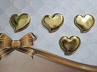 Патч сердечко из эко-кожи 4,7*4,5 см (золото)