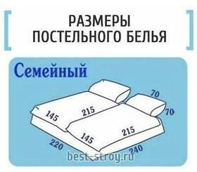 Пошив постельного белья семейный размер