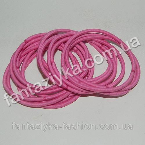 Тонкая резинка-червяк для волос 5см, розовая