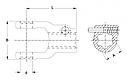 Вилка карданного валу AG 2300 KNP1 3/8-6 STIFT L107, фото 2