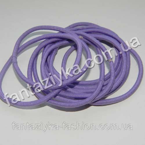 Тонкая резинка-червяк для волос 5см, фиолетовая