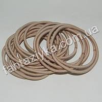Тонкая резинка-червяк для волос 5см, бежевая