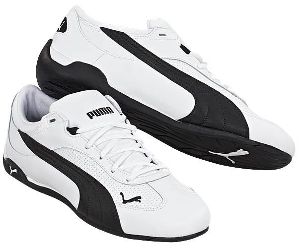 Кроссовки повседневные мужские Men s PUMA Fast Cat Leather White Black  304047 03 пума d51143c27