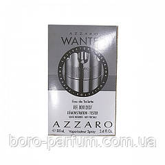Azzaro Wanted Silver 100 мл TESTER мужской