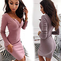 Романтическое платье в обтяжку с вырезом декольте sh-014 (42-50р, разные цвета), фото 2