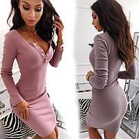 Романтическое платье в обтяжку с вырезом декольте sh-014 (42-50р, разные цвета)