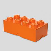 Восьми точечный оранжевый контейнер для хранения Lego 40041753
