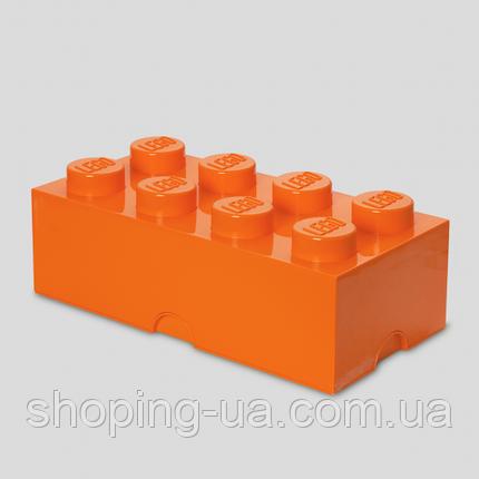 Восьми точечный оранжевый контейнер для хранения Lego 40041753, фото 2