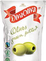 Оливки зелені без кісточки 160г DIVA OLIVA м/у (1/24)