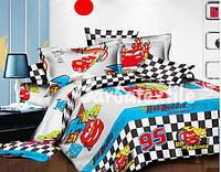 Комплект двуспального постельного белья Тачки