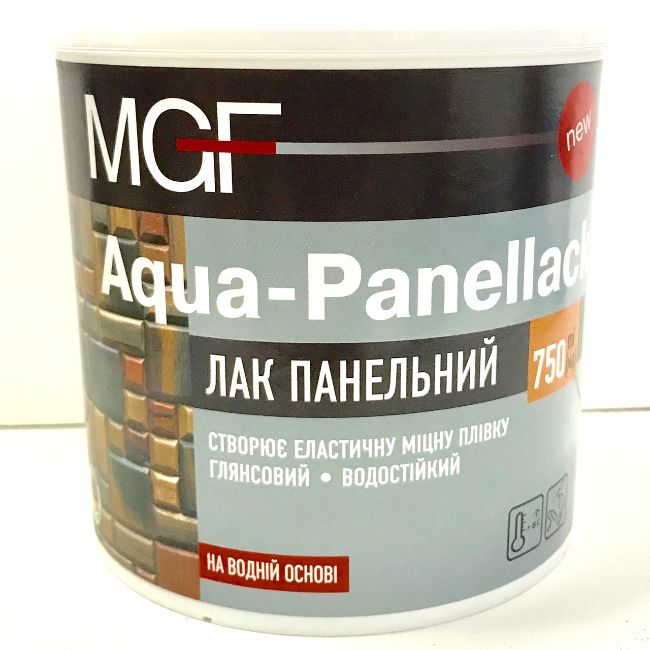 Лак панельний MGF AQUA-PANELLACK 0,75л глянцевий