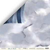 Лист двусторонней бумаги 30x30 от Scrapmir Туман из коллекции Blue & Blush