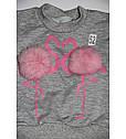 Детский спортивный костюм Фламинго серый для девочки на рост 80-110 см, фото 2