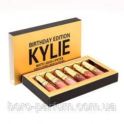 Набор жидких матовых помад Kylie Birthday Edition matte liquid lipstick (6 шт) в поврежденной упаковке