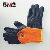 Перчатки  утепленные синтетические с латексным покрытием