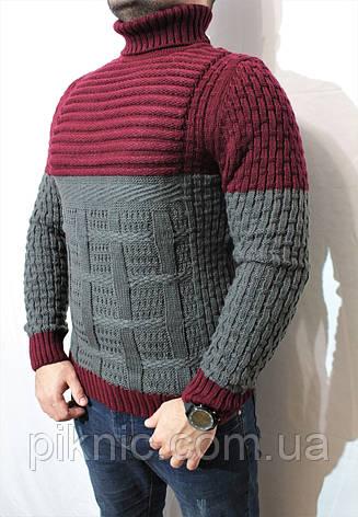 b6786f4e8982 Теплый молодежный свитер под горло Турция XL. Джемпер зимний мужской, фото 2