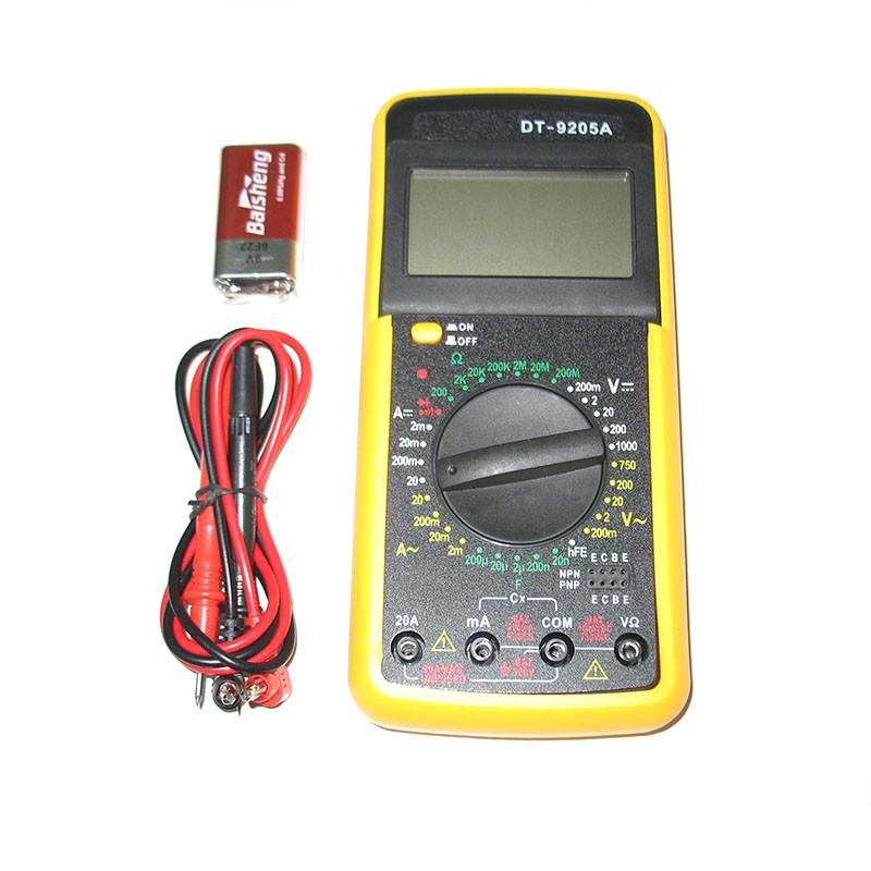 Цифровой профессиональный мультиметр DT-9205A New