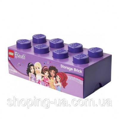 Восьми точечный фиолетовый контейнер для хранения Lego 40041746