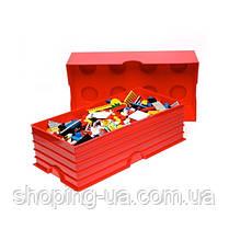 Восьми точечный фиолетовый контейнер для хранения Lego 40041746, фото 2