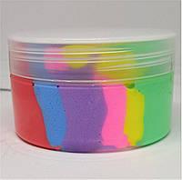 Слайм Slime Радуга Rainbow Флаффи воздушный Антистресс 80мл (ml)