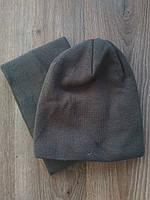 Спортивная шапка коричневая Nike в комплекте с горловиком, фото 1