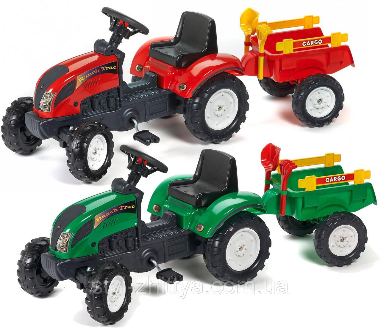 Трактор на педалі для дітей 2+ з причепом