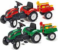 Трактор на педалі для дітей 2+ з причепом, фото 1