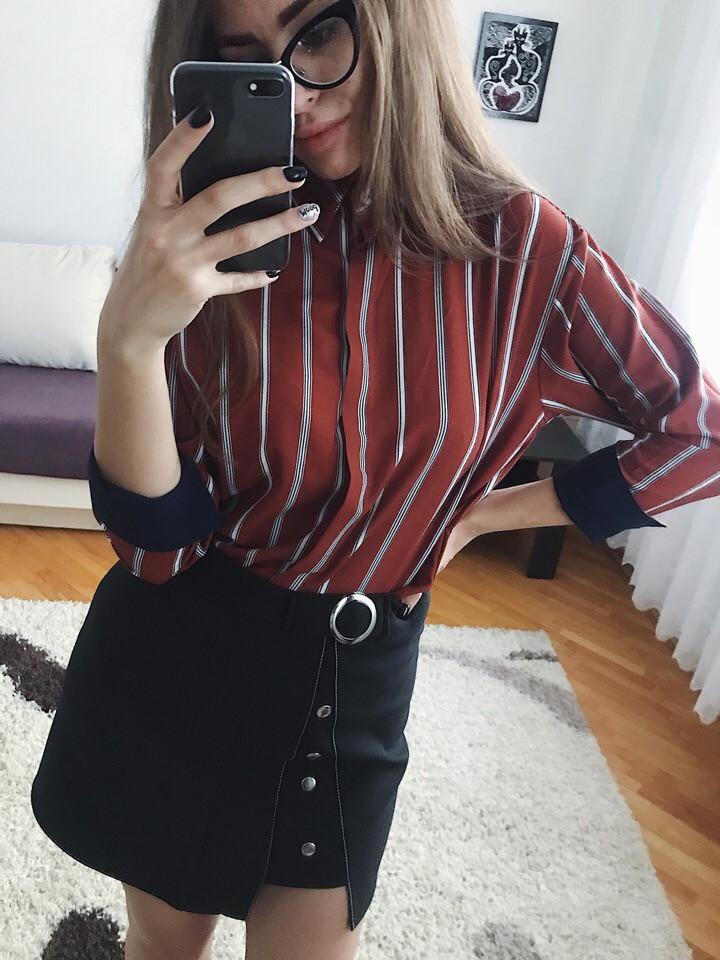 Женская рубашка из креп-шифона