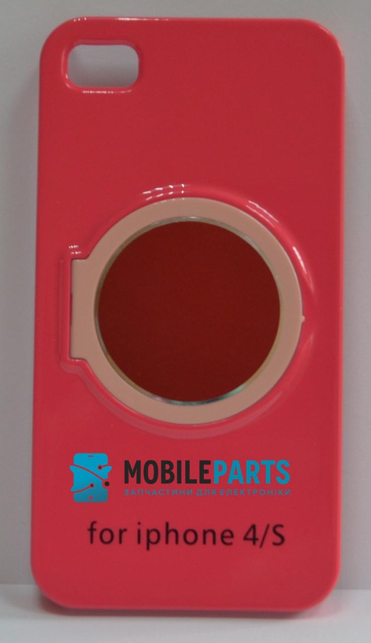 Пластиковый Чехол-накладка Fashion Classic для iPhone 4 | 4S (Розовый)