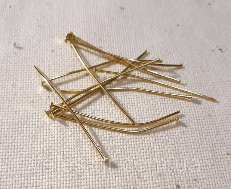 Піни гвоздики 4 см золото 10 грм /59 шт/ біжутерні