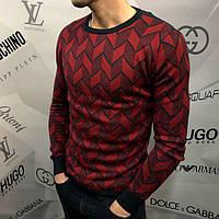 Свитшот мужской Calvin Klein D4581 черно-бордовый