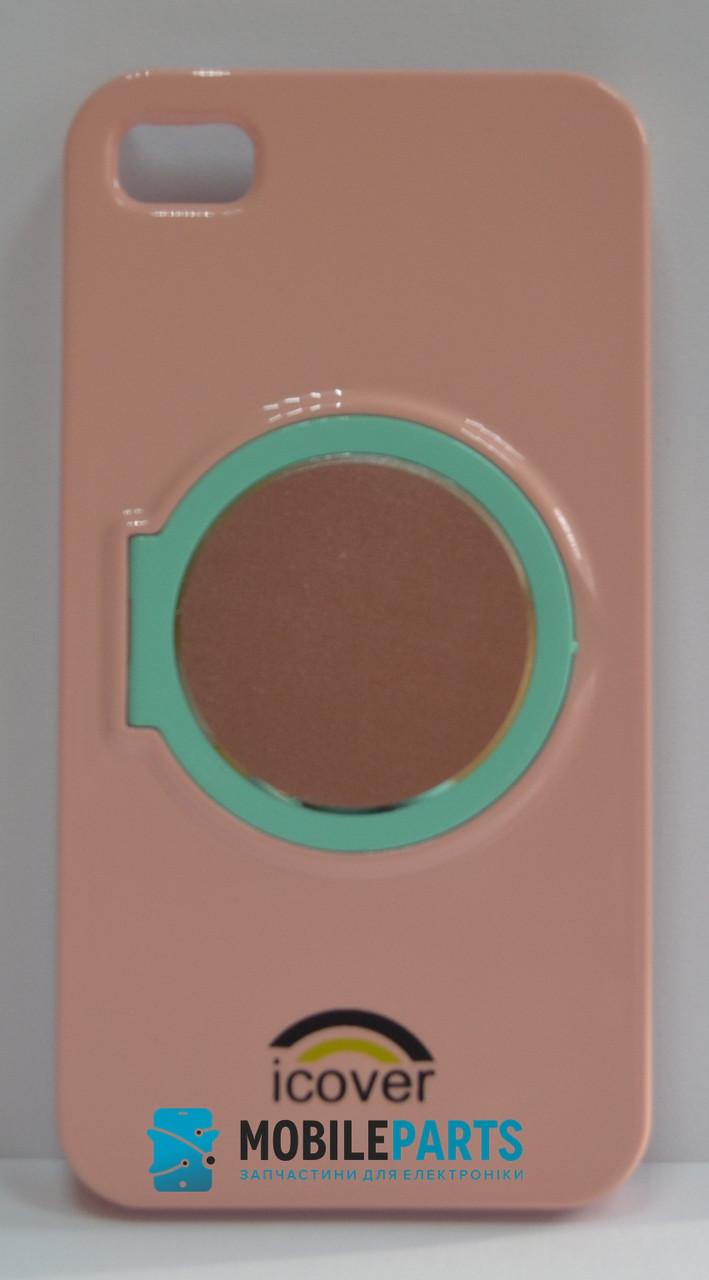 Пластиковый Чехол-накладка Fashion Classic для iPhone 4 | 4S (Пудра)