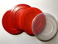 Крышка для жестяных банок с EASY-OPEN АУРА, контроллер пластиковый Д.73ММ красный 1000 шт мешок