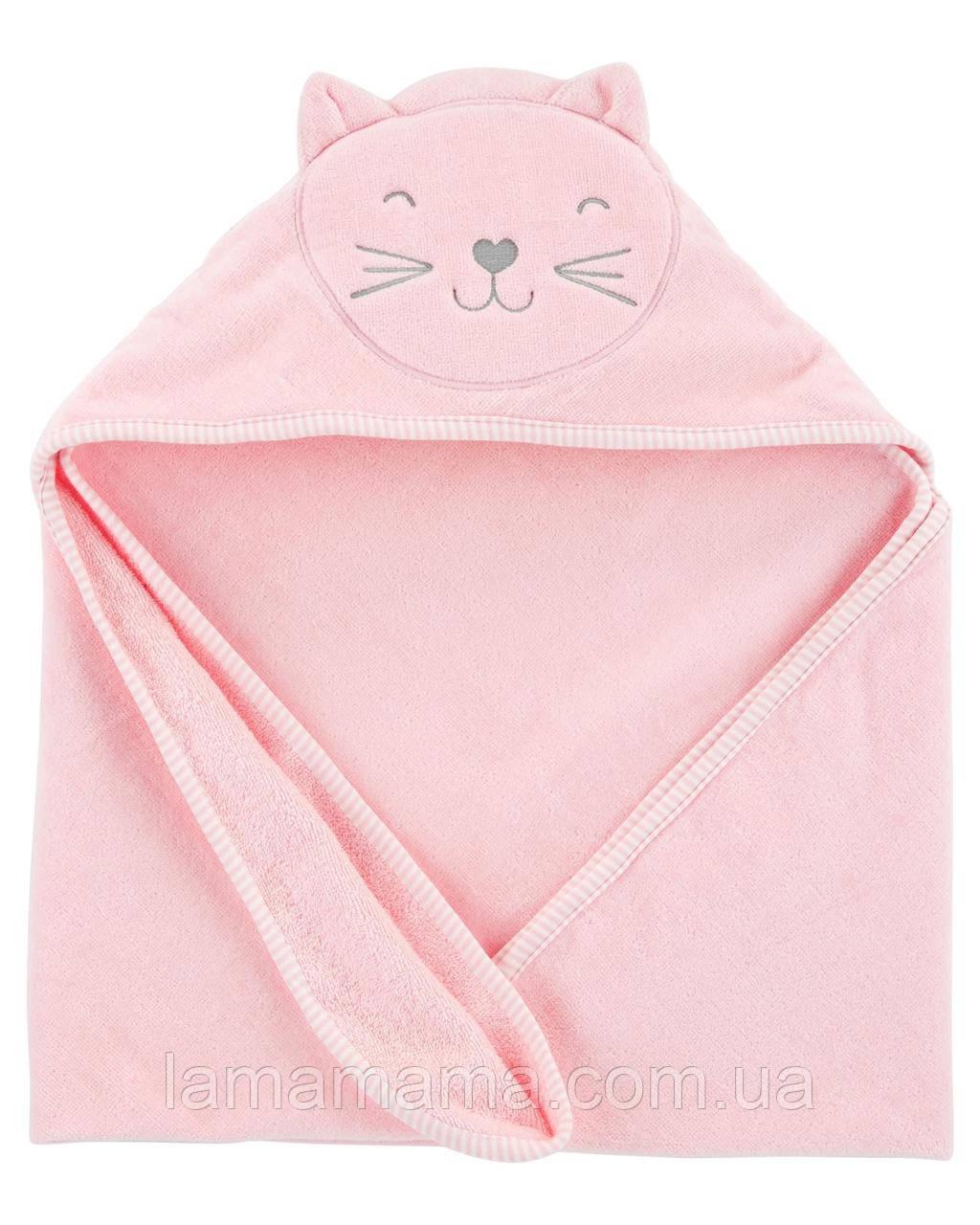 Полотенце с уголком Розовые мечты Картерс Carter's Cat Hooded Towel