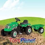 Трактор педальний, дитячий Smoby з причепом, фото 2