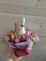 Букетик с шампанским, и итальянскими конфетами Witor`s