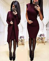 Комплект короткое платье и кардиган из ангоры sh-013 (42-56р, разные цвета), фото 3
