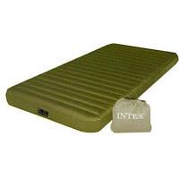 Надувной матрас Intex 68726, 99 х 191 х 20 см, с ножным насосом. Одноместный