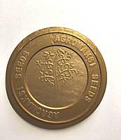 Крышка для жестяных банок  с логотипом с EASY-OPEN АУРА, контроллер пластиковый Д.73ММ мешок 1000 шт