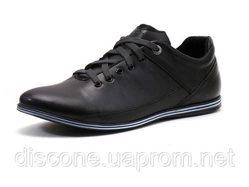 Спортивные туфли мужские натуральная кожа, черные, Турция GS-комфорт