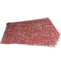 Декоративные салфетки на стол A-PLUS из 6 шт (2061) Красный