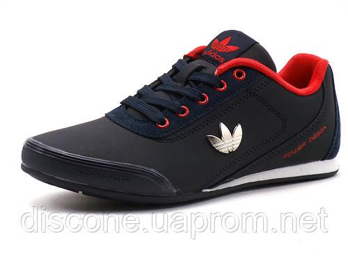 Кроссовки Adidas Porshe Design унисекс темно-синие с красным