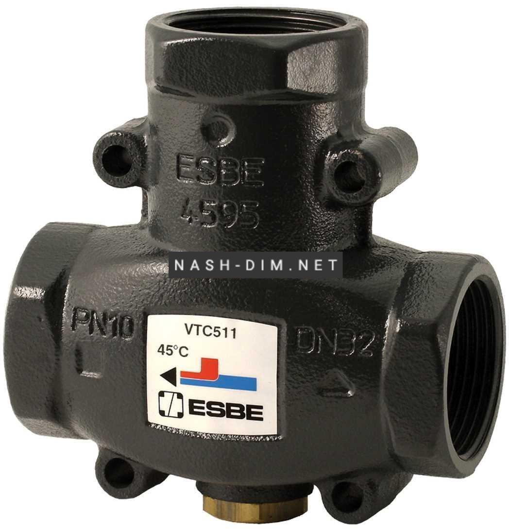 Трехходовой смесительный клапан Esbe VTC511 60°C DN32 1 1/4