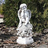 Ангел на цветке BST 480263 37 см  белый