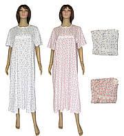 NEW! Классические хлопковые женские ночные рубашки с кружевом в больших размерах - Klassika Mix ТМ УКРТРИКОТАЖ!