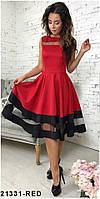 Хит продаж! Элегантное кукольное платье со вставками из сетки  Stefani M, Red