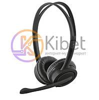 Гарнитура Trust Mauro Headset Black, накладные, USB, кабель 1.8м